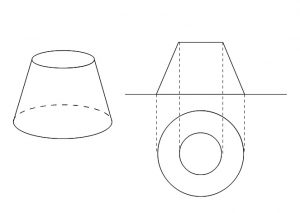立体の投影図と書き方と具体例の...